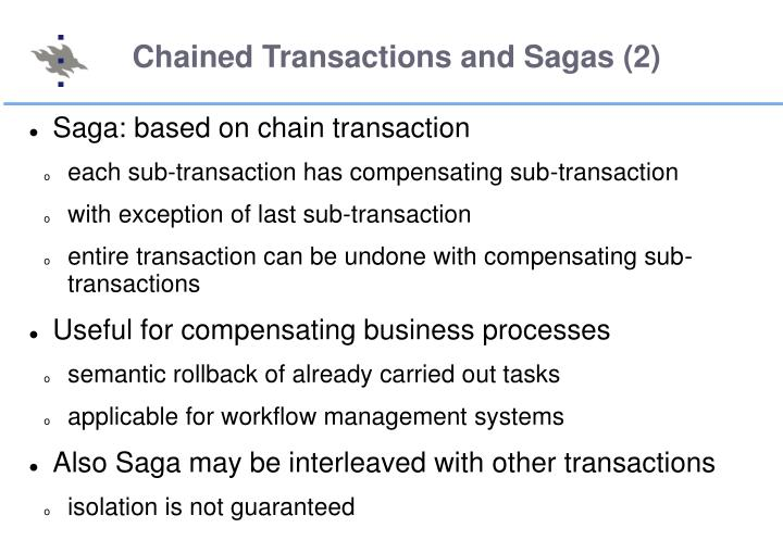 Chained Transactions and Sagas (2)