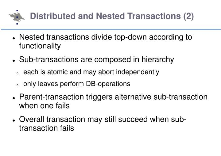 Distributed and Nested Transactions (2)
