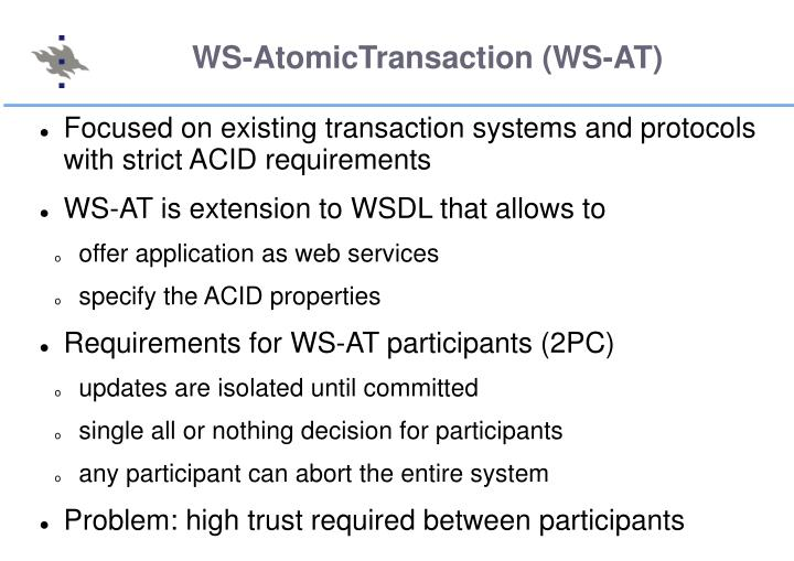 WS-AtomicTransaction (WS-AT)