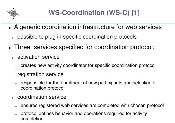 WS-Coordination (WS-C) [1]