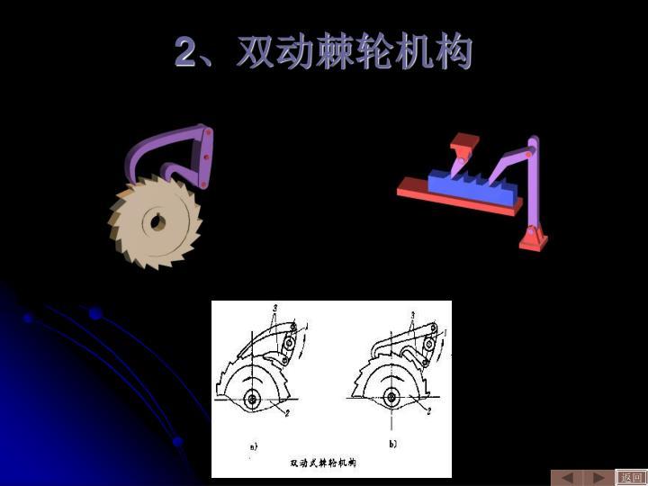 2、双动棘轮机构