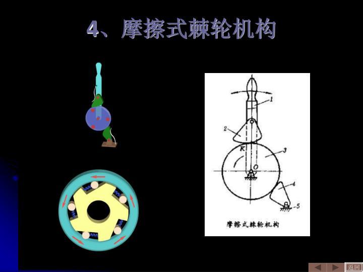 4、摩擦式棘轮机构