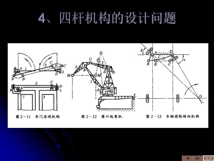 4、四杆机构的设计问题