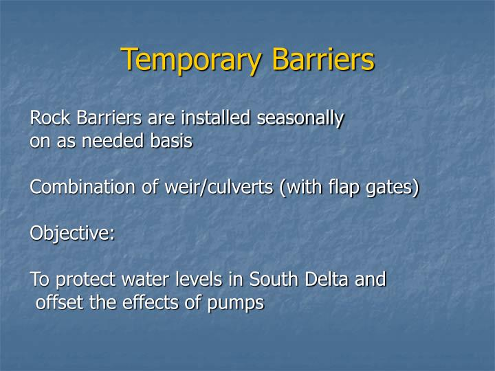 Temporary Barriers