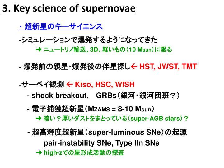 3. Key science of supernovae