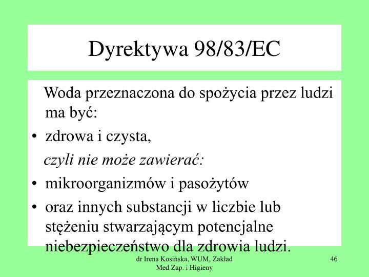 Dyrektywa 98/83/EC