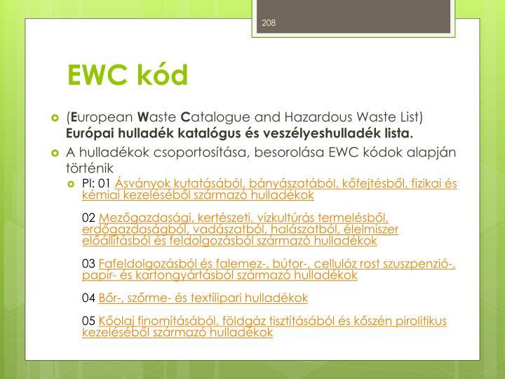 EWC kód