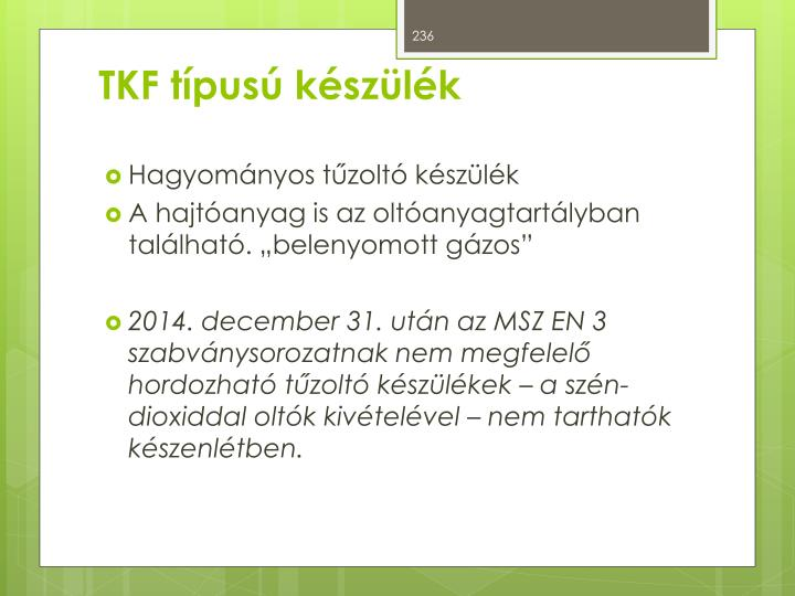 TKF típusú készülék