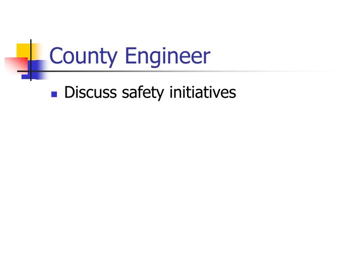 County Engineer