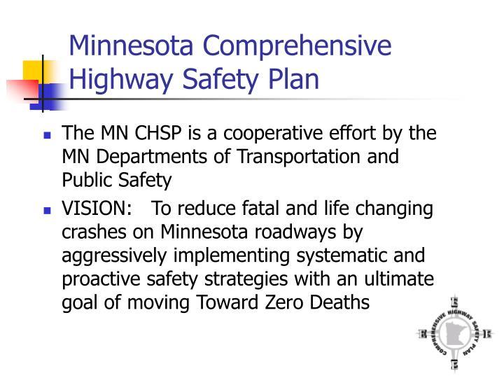 Minnesota Comprehensive Highway Safety Plan