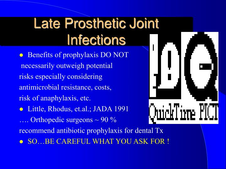 Late Prosthetic Joint Infections
