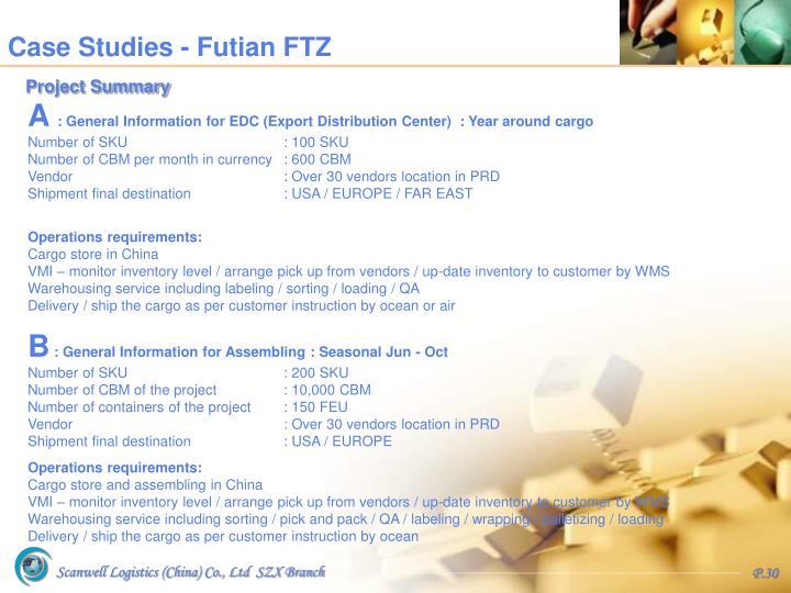 Case Studies - Futian FTZ