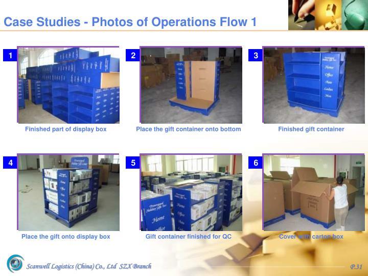 Case Studies - Photos of Operations Flow 1