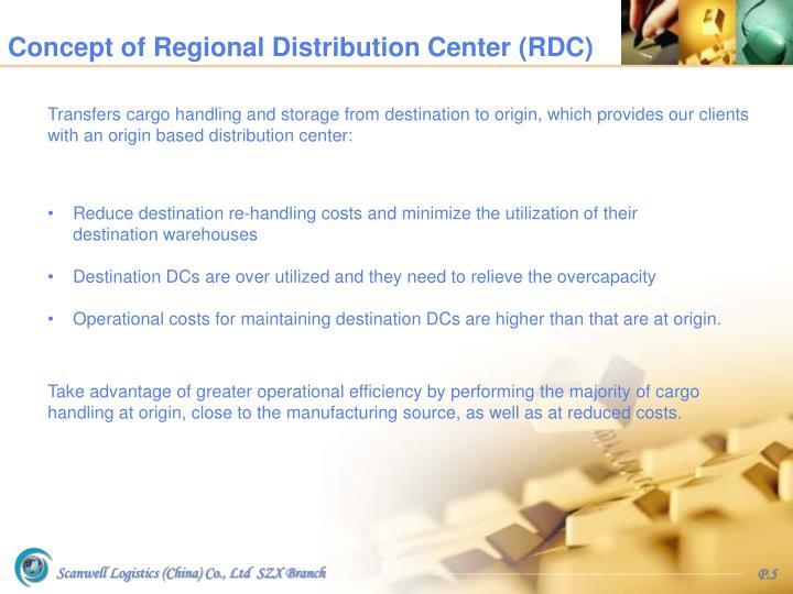 Concept of Regional Distribution Center (RDC)