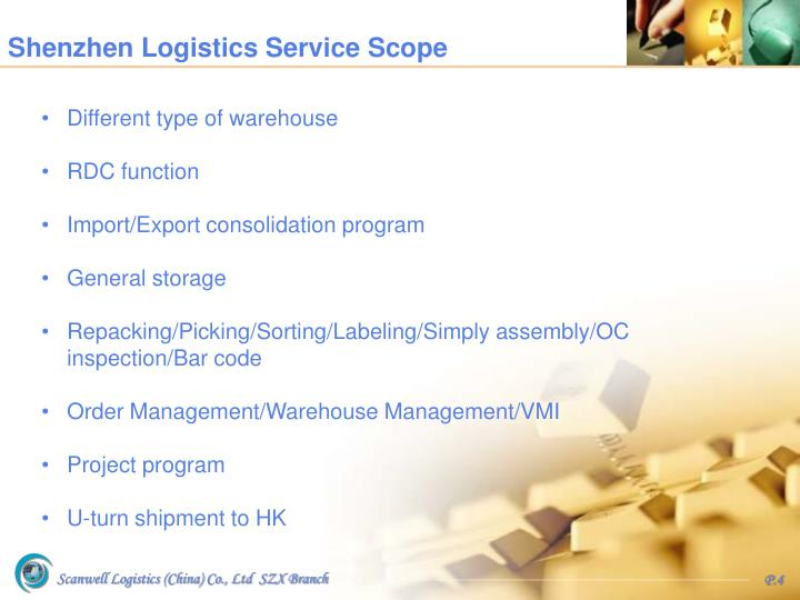 Shenzhen Logistics Service Scope