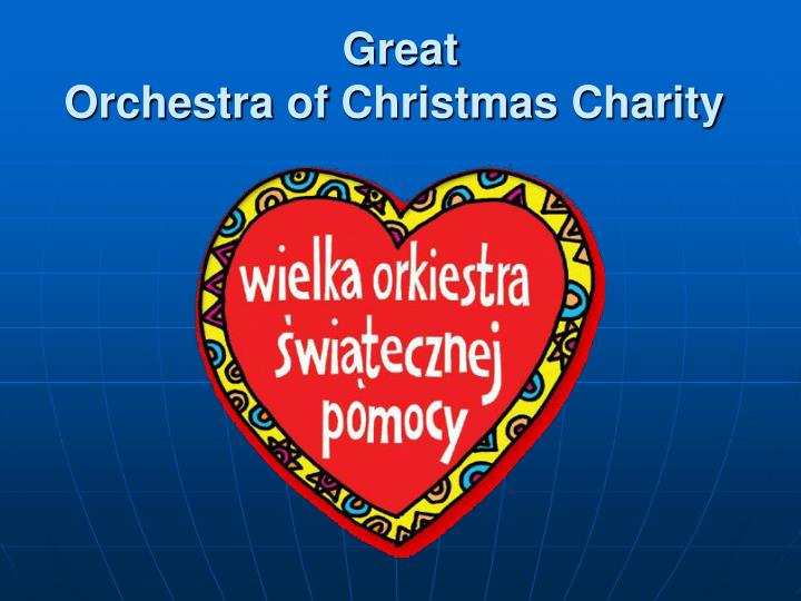 Great OrchestraofChristmasCharity