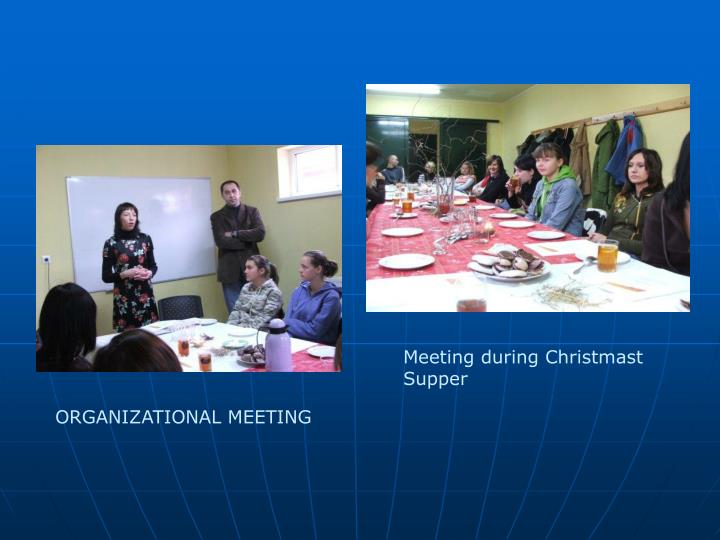 Meeting during Christmast Supper