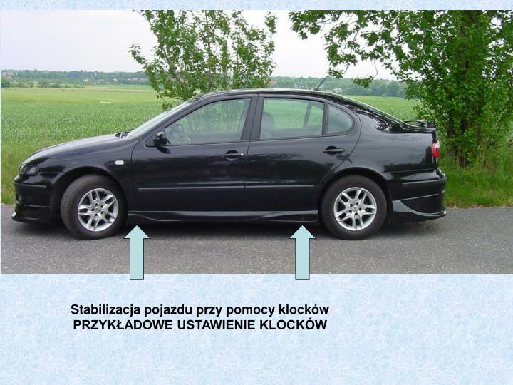 Stabilizacja pojazdu przy pomocy klocków