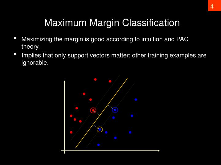 Maximum Margin Classification