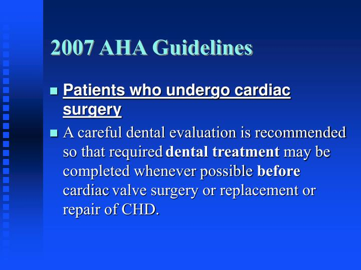 2007 AHA Guidelines