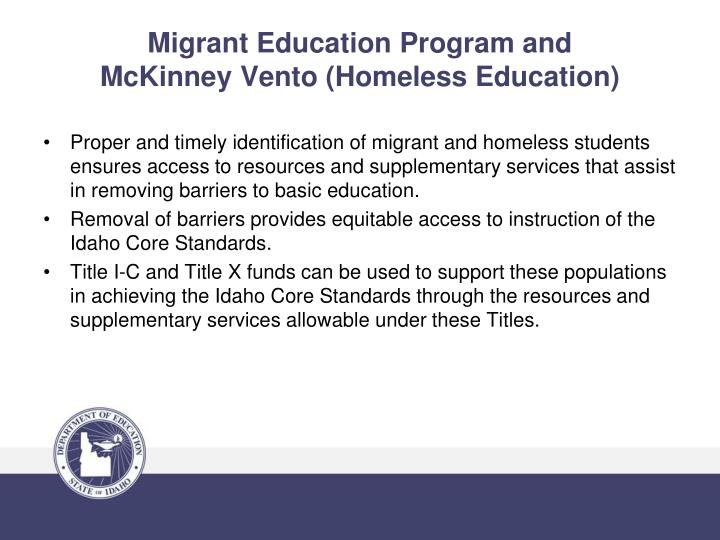 Migrant Education Program and
