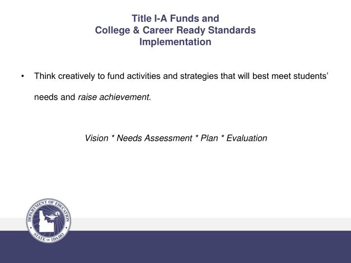 Title I-A Funds and