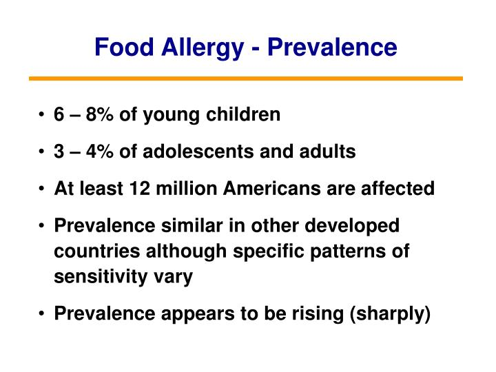 Food Allergy - Prevalence