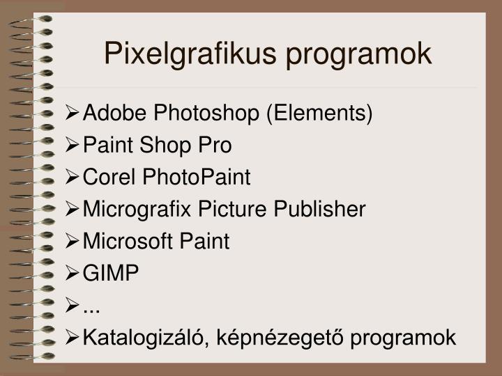Pixelgrafikus programok