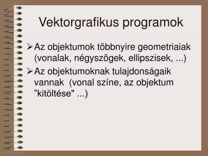 Vektorgrafikus programok