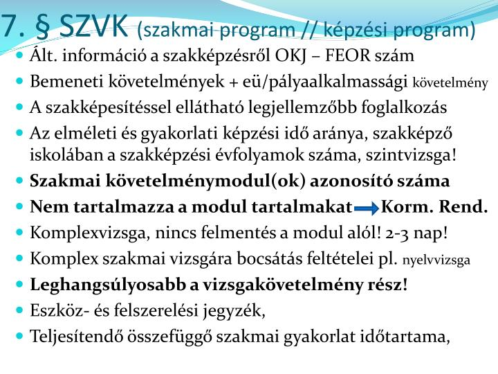 7. § SZVK
