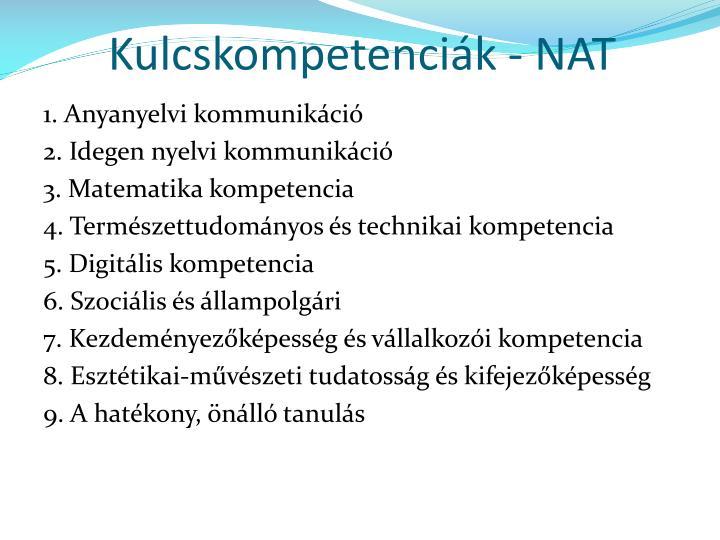 Kulcskompetenciák - NAT