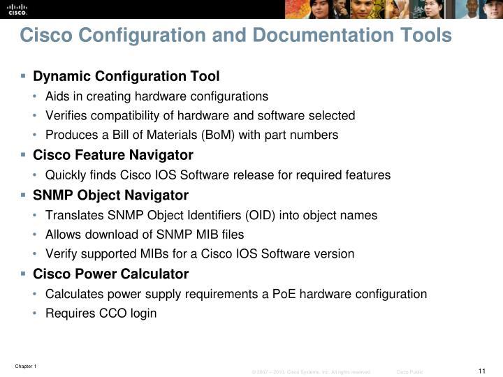 Cisco Configuration and Documentation Tools