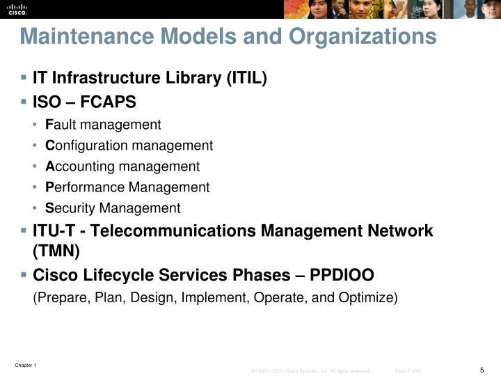 Maintenance Models and Organizations