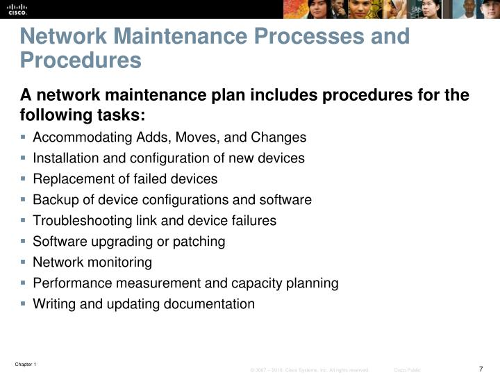 Network Maintenance Processes and Procedures