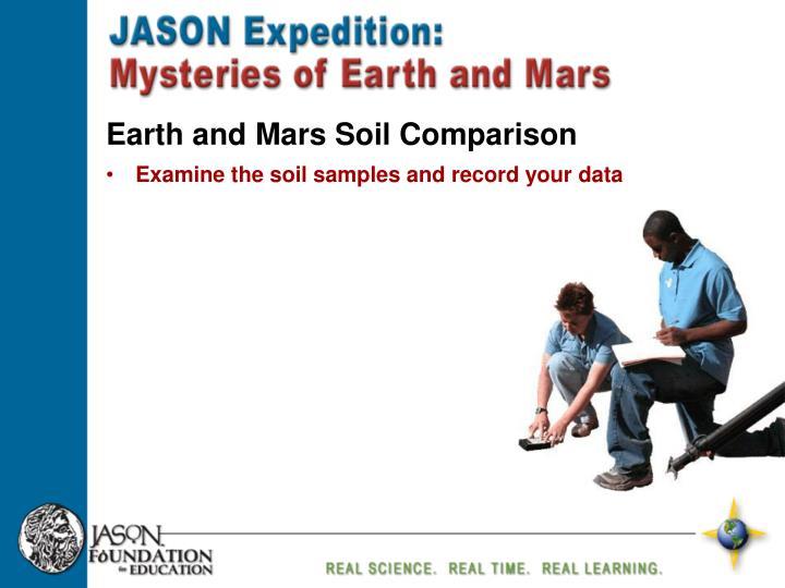 Earth and Mars Soil Comparison