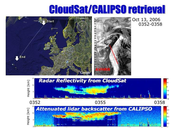 CloudSat/CALIPSO retrieval