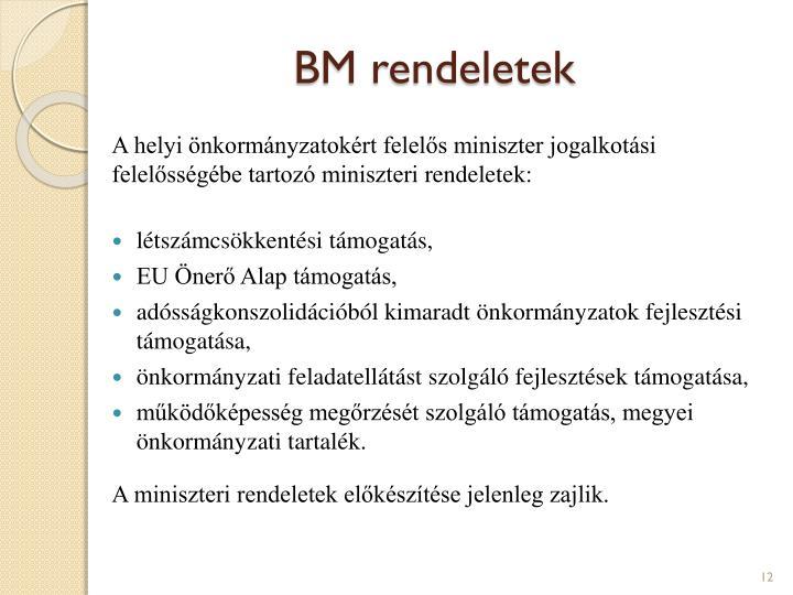 BM rendeletek