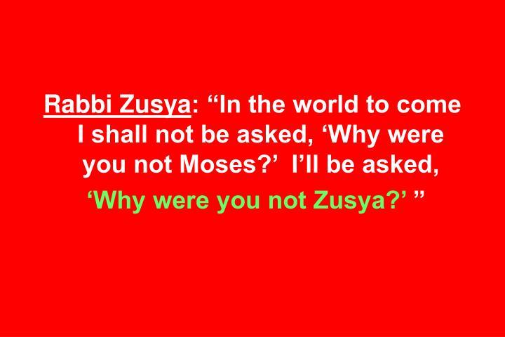 Rabbi Zusya