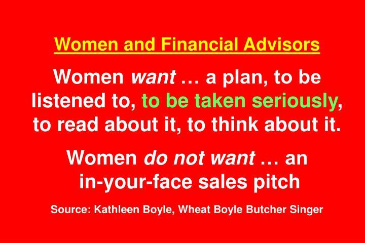 Women and Financial Advisors