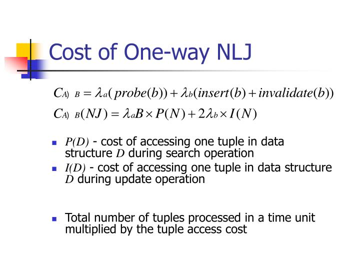 Cost of One-way NLJ