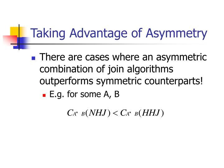 Taking Advantage of Asymmetry