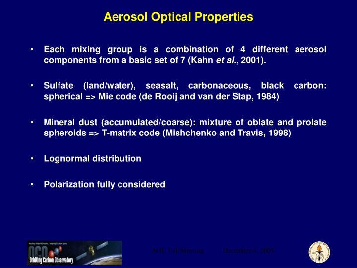 Aerosol Optical Properties