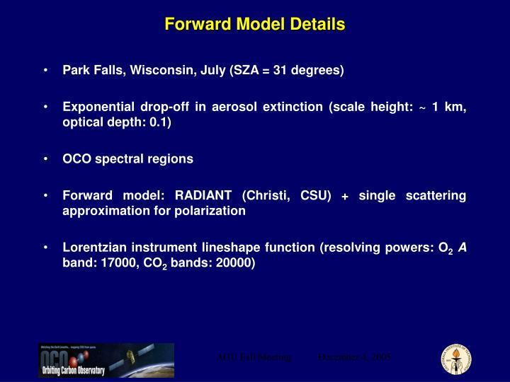 Forward Model Details