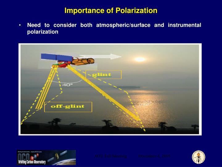 Importance of Polarization