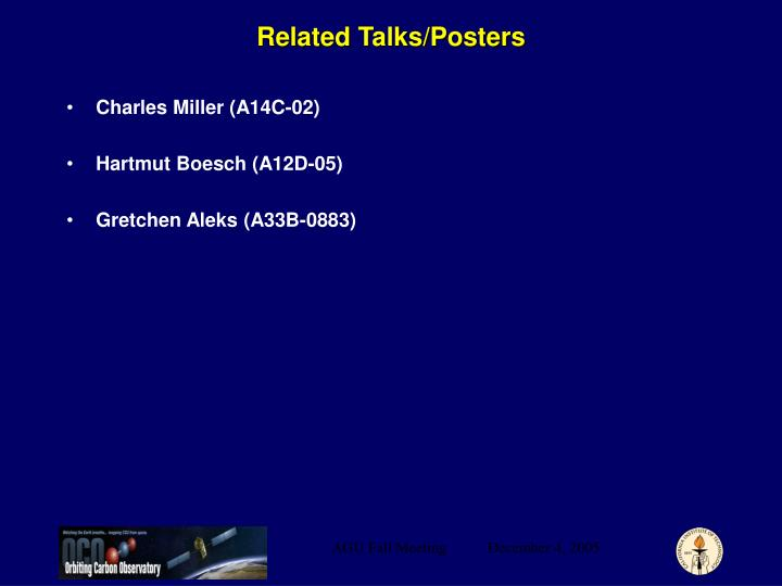 Related Talks/Posters