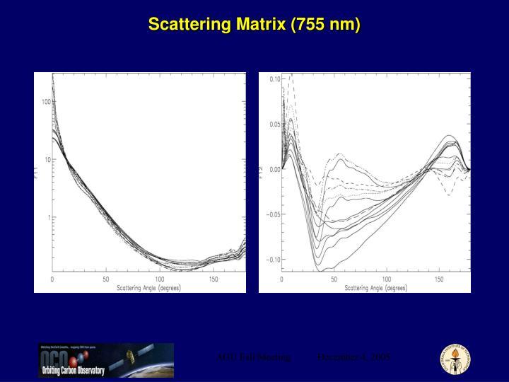Scattering Matrix (755 nm)