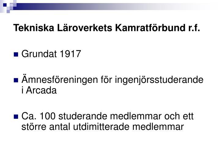 Tekniska Läroverkets Kamratförbund r.f.