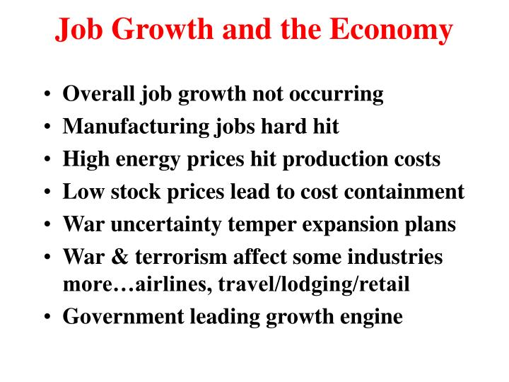 Job Growth and the Economy