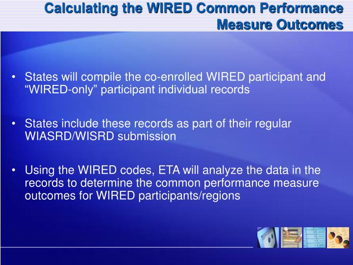 Calculating the WIRED Common Performance Measure Outcomes