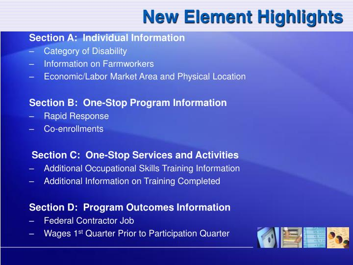 New Element Highlights